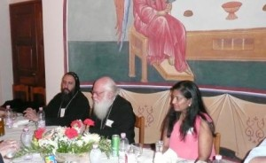 His Beatitude Archbishop Anastasios with His Grace Bishop Angaelos and Mrs. Grace Mathews